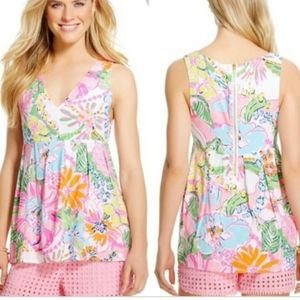Lillly Pulitzer Nosey Posey Shirt Top Sz S